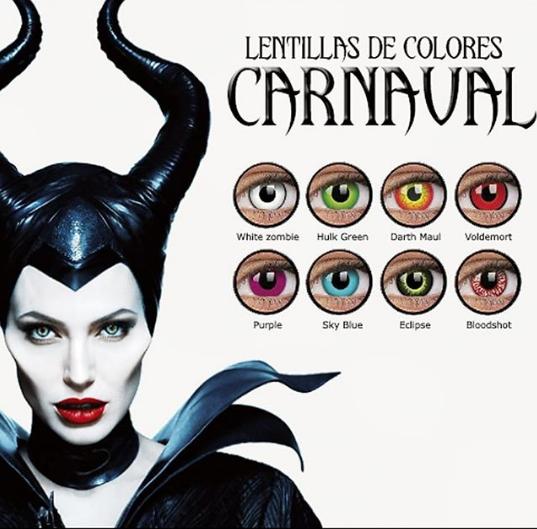 Lentillas de color para tu disfraz de carnaval